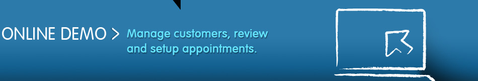 Manage customers, review and setup appointments.
